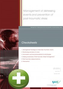 Management of distressing events and prevention of post-traumatic stress + Checksheets