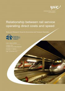 Relationship between rail service operating direct costs and speed