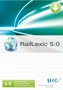 RailLexic 5.0 - 4 user network licence